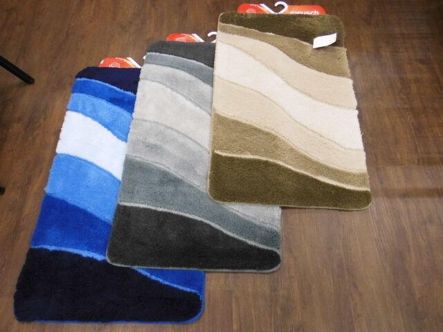 Meusch Badteppich Ocean 55 x 65 cm 60 x 100 cm 70 x 120 cm Badvorleger Badmatte   | Klein und fein