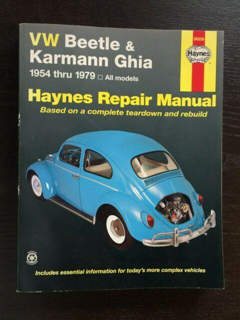 Vw Volkswagen Beetle  U0026 Karmann Ghia 1954