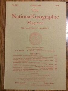 REPRINT-National-Geographic-Magazine-August-1896-Vol-VII-No-8-Piedmont