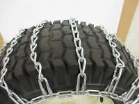 23 x 10.50 - 12 SNOW TIRE CHAINS FOR LAWN & GARDEN - PEERLESS MAX-TRAC - 2 LINK