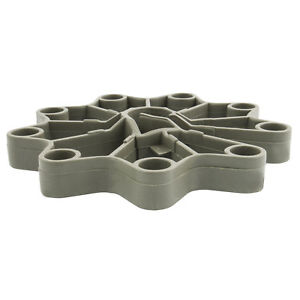 50x Ringabstandshalter Universal Bewehrung Abstandhalter PVC 25//8-12 mm Rädchen