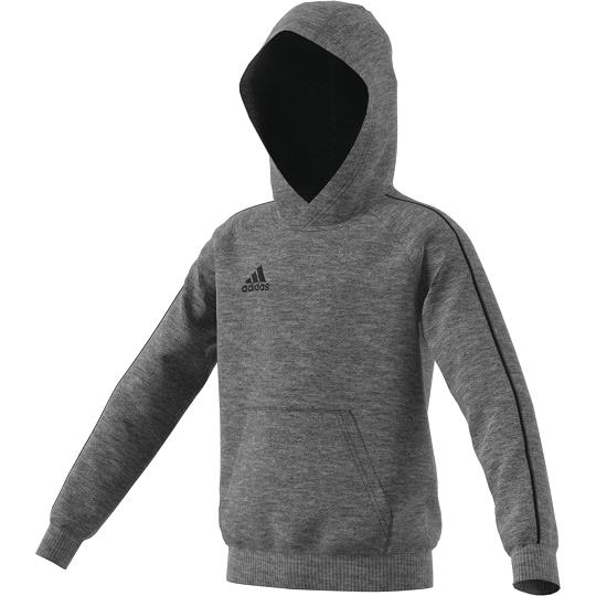 3527e8caf adidas Core 18 Hoody Hood Sweat Shirt Kids Grey 128 for sale online ...
