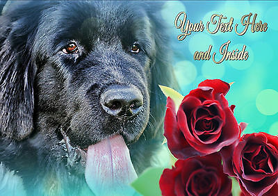 PERSONALISED NEWFOUNDLAND NEWFIE BIRTHDAY FATHERS DAY ANY ...