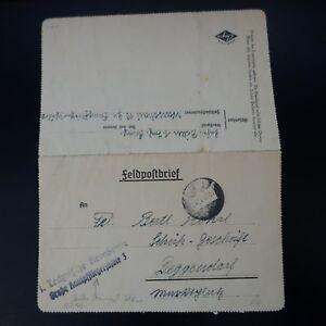 Symbole De La Marque Allemagne Lettre Feldpost Brief 24.06.40 Technische Kompanie Gross Kampfflieger