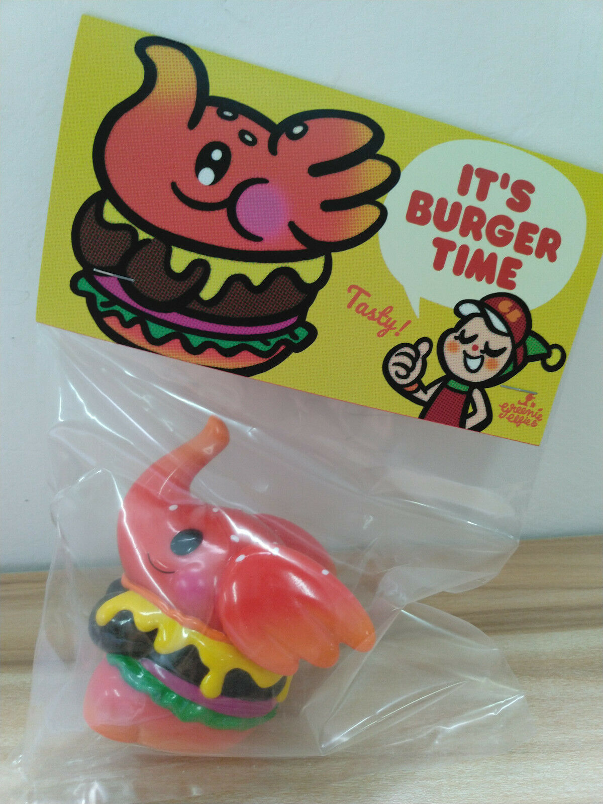 Unbox verdeie & Elfie Elephant Spicy Burger Vinyl Figure TTE