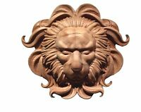 Hand Carved Variety Of Hard Wood Lion Head Appliqué Rosette