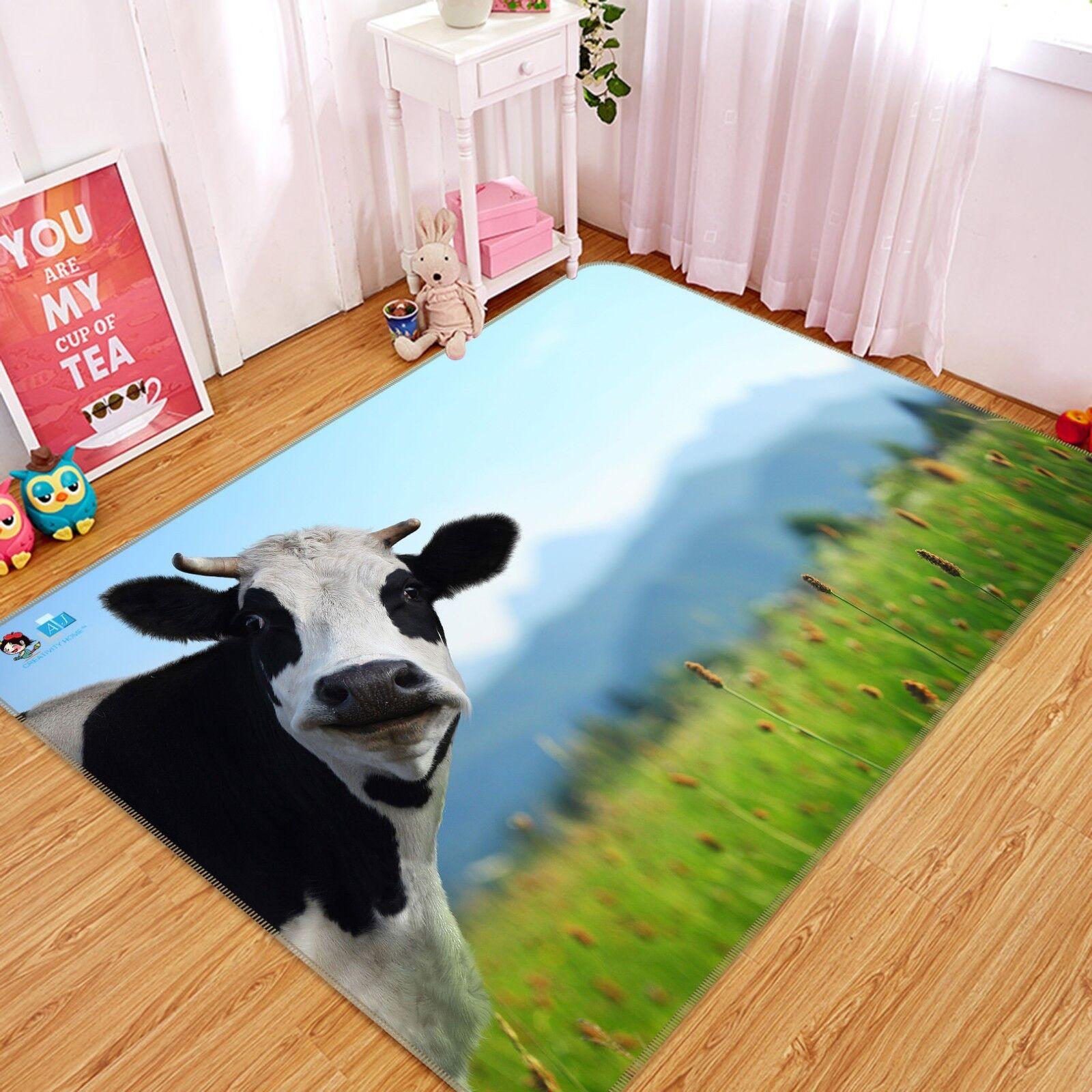 3d vacche Prato 150 non-slip CARPET MAT quality elegante Carpet de Summer