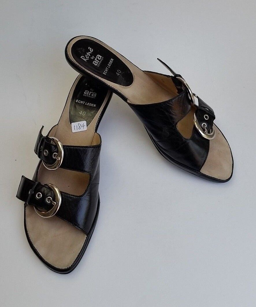 Rene by Ara shoes Echt Leder Sandals Slides Slip-On Womens Size US 9.5