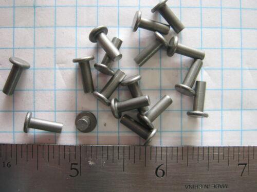 50 Solid steel 1//8 X 3//8 flat head rivet SCA armor rivets LARP