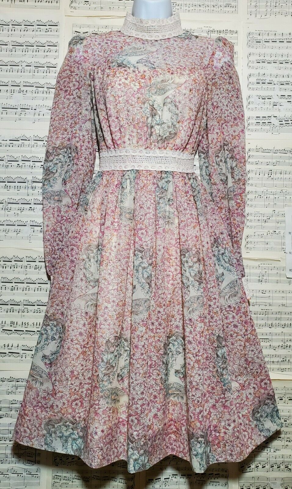 Vintage 1960s 1970s Unbranded Gunne Sax Style Wom… - image 8