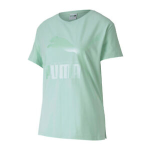 Détails sur PUMA Classic Logo T Shirt Vert F94