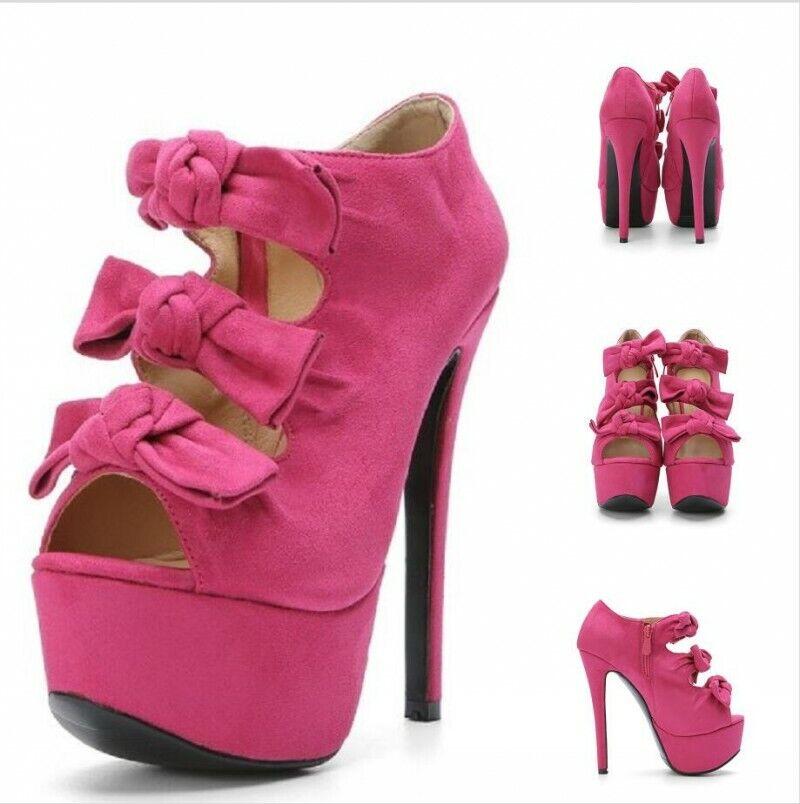donna Peep Toe Stilettos High Heel Platform Sandals Hollow Out Prom scarpe 34-47