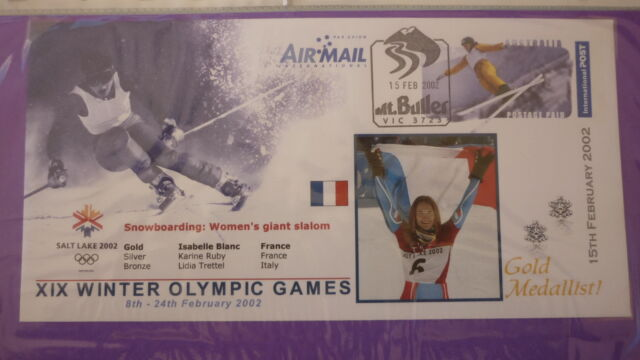 2002 WINTER OLYMPIC GAMES GOLD MEDAL WIN COVER, ISABELLE BLANC GIANT SLALOM