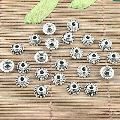 50pcs tibetan silver color bead caps for jewery making DIY  H1126