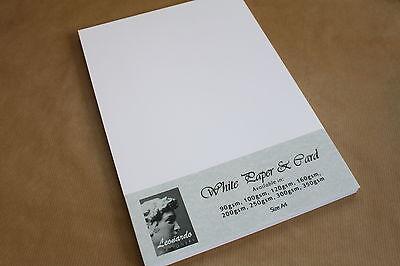 A4 SMOOTH WHITE PREMIUM QUALITY CARD OR PAPER 160gsm 200gsm 250gsm 300gsm 350gsm