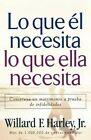 Lo Que el Necesita, Lo Que Ella Necesita: Construya un Matrimonio A Prueba de Infidelidades by Willard F Harley, Jr. (Paperback / softback, 2007)