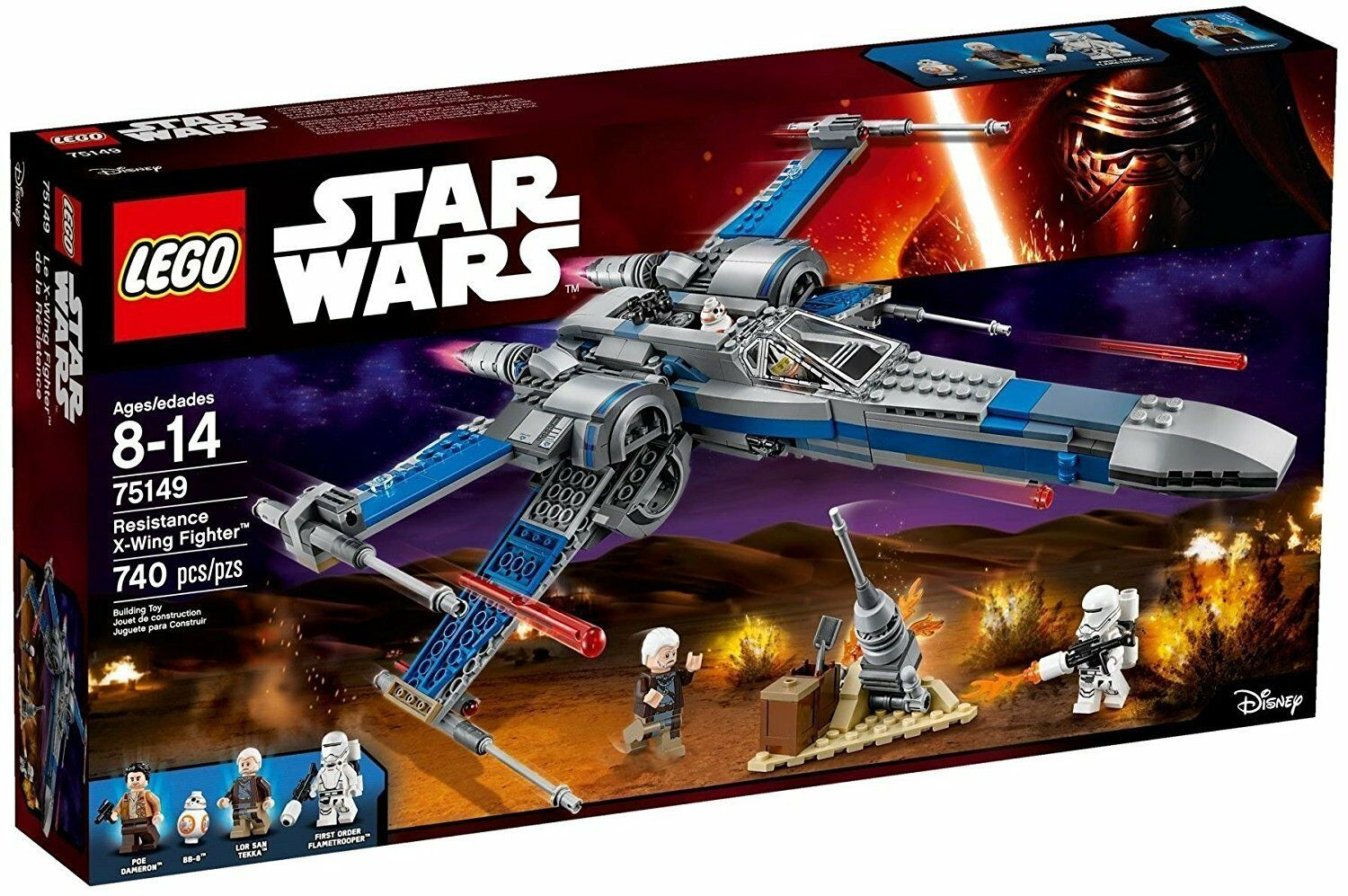 LEGO® Star Star Star Wars™ 75149 Resistance X-Wing Fighter™ NEU NEW OVP MISB d0f12a