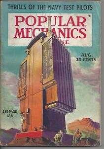 Magazine Popular Mechanics August 1937 Navy Test Pilots Yachts