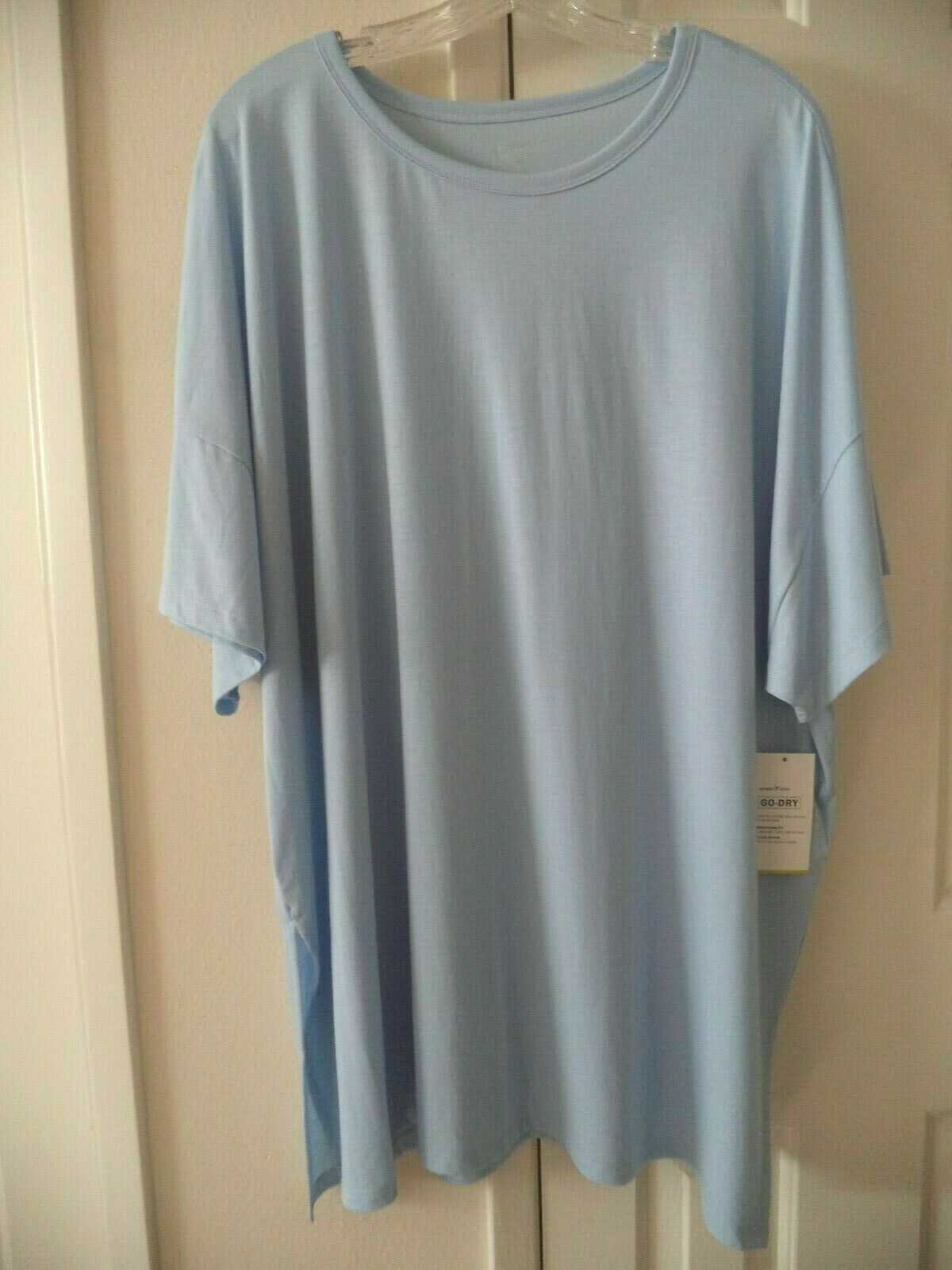 Old Navy Active Lt Wgt Sky Powder Blue Relax Fit Side Slit T-shirt 3X 24 26 XXL