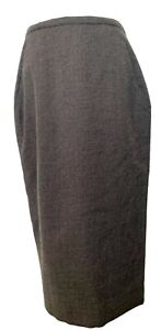 NEW, RICK OWENS 'MASTODON F/W 16' GRAY WOOL PENCIL SKIRT, 10, $1350
