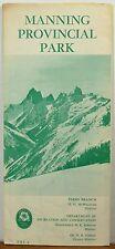 1968 Manning Provincial Park BC British Columbia Canada brochure map b