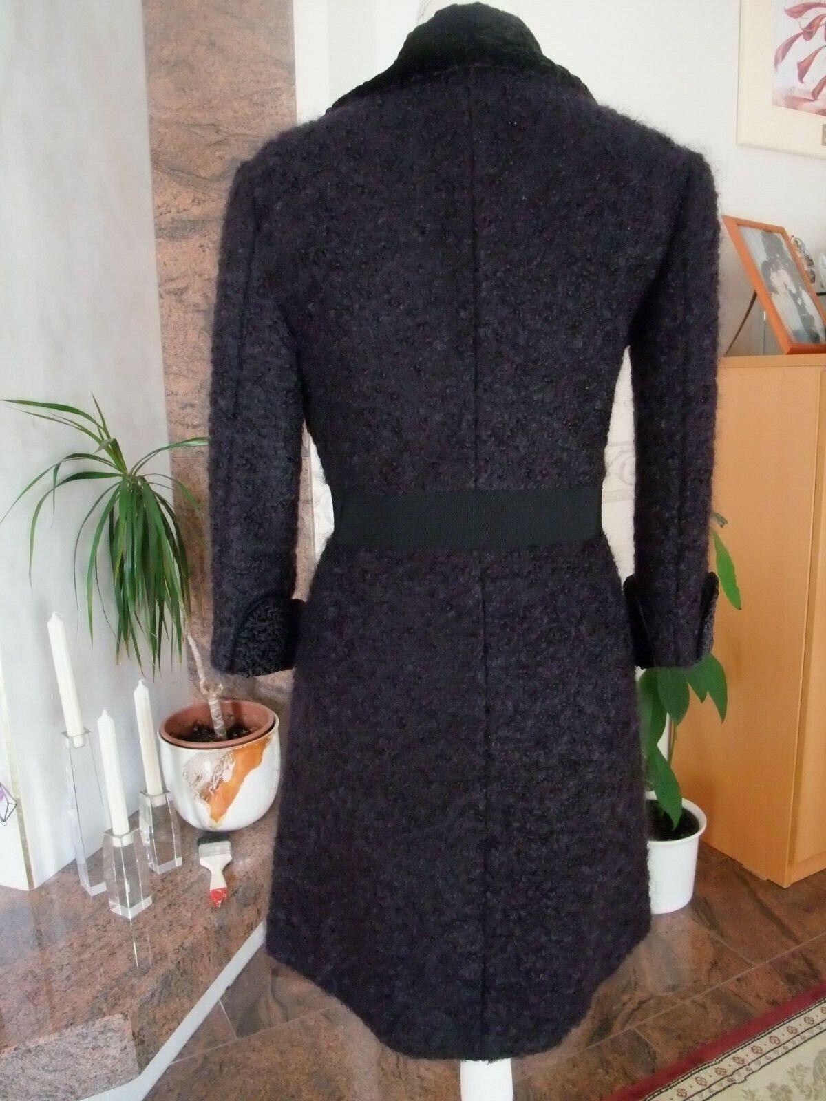 Cristina Cristina Cristina Pitteri by Aplomb Designer Boucle Mantel Gr 34 ( Ital.40.) , schwarz | Lebensecht  03bba6