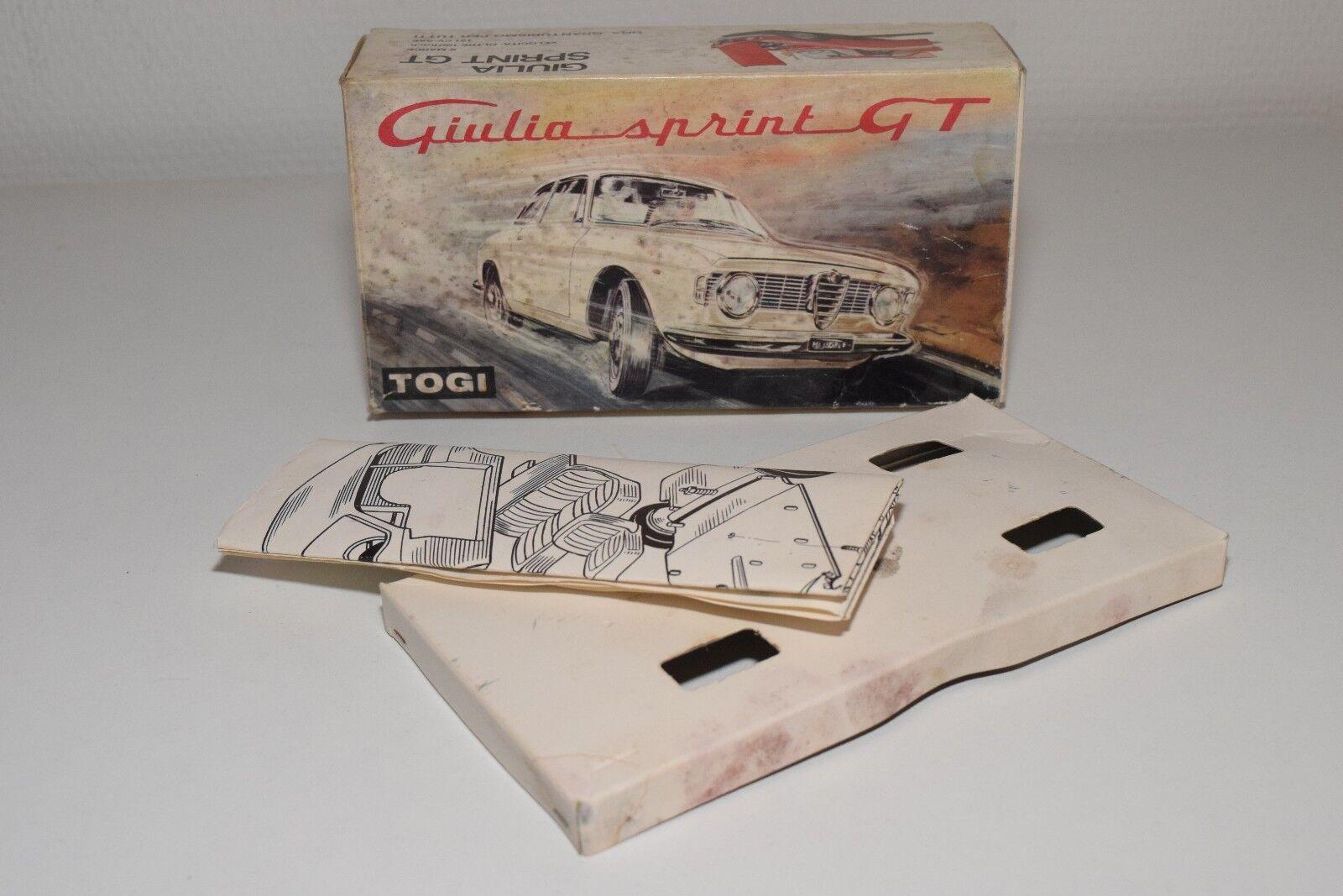 V 1 23 TOGI ALFA ROMEO GIULIA SPRINT GT A GTA EMPTY ORIGINAL BOX EXCELLENT
