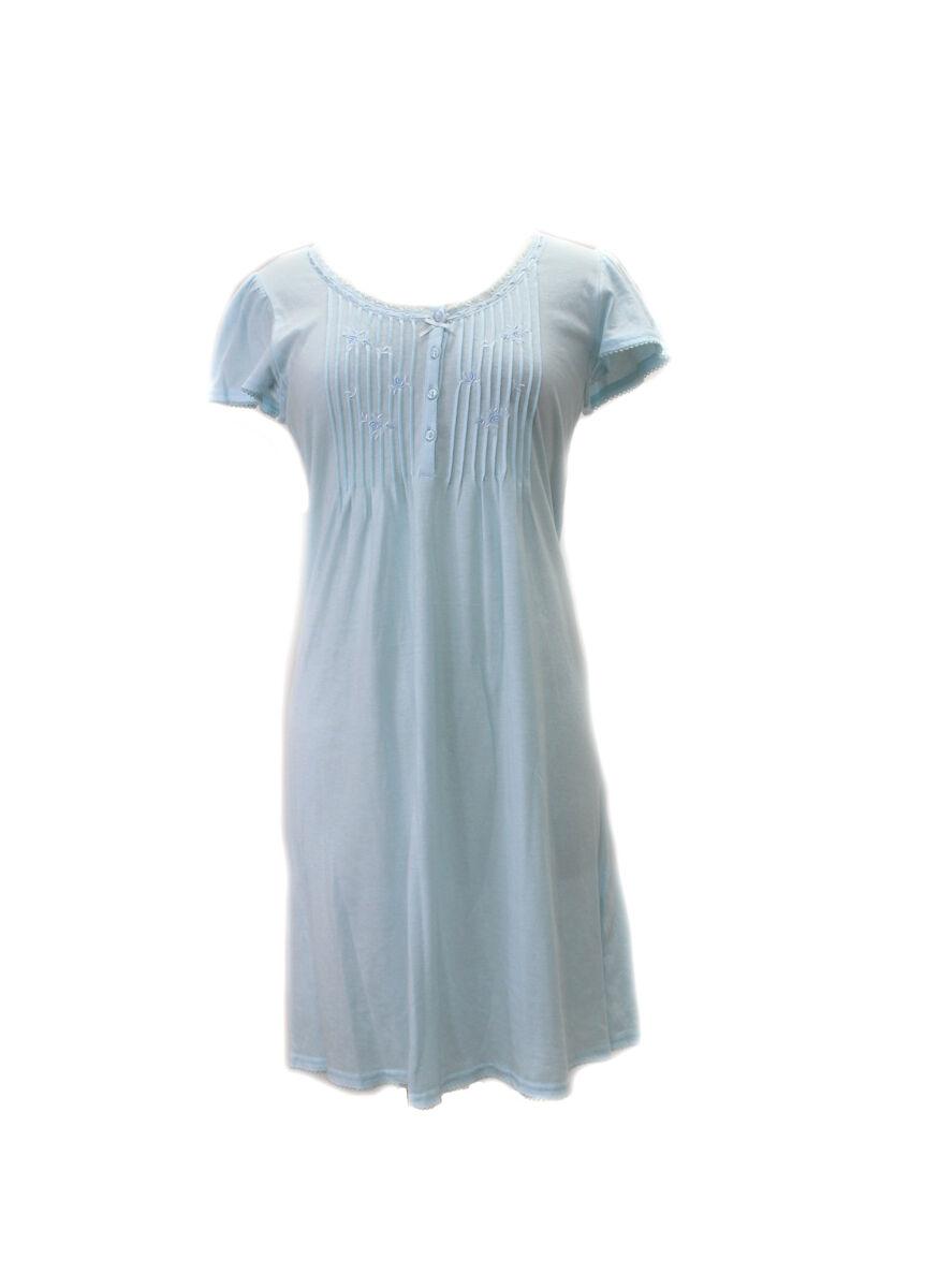 204455 New Miss Elaine blueebell Short Silkyknit Nightgown Gown Sleepwear Pajamas