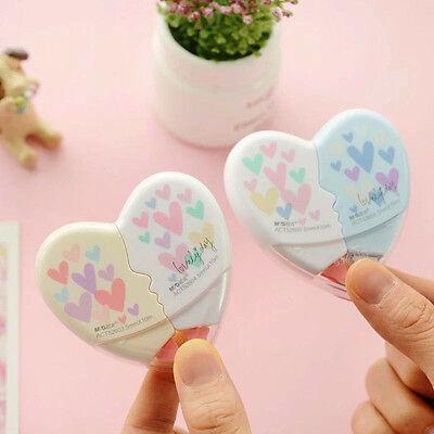 2 Pcs/pair Love Heart Correction Tape Kawaii Stationery Office School Supplies