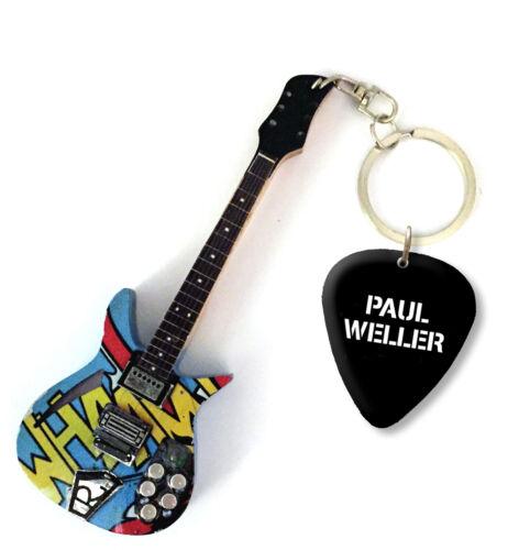 2 X Paul Weller The Jam Mini Guitar Keyrings /& Picks D//S Custom Order