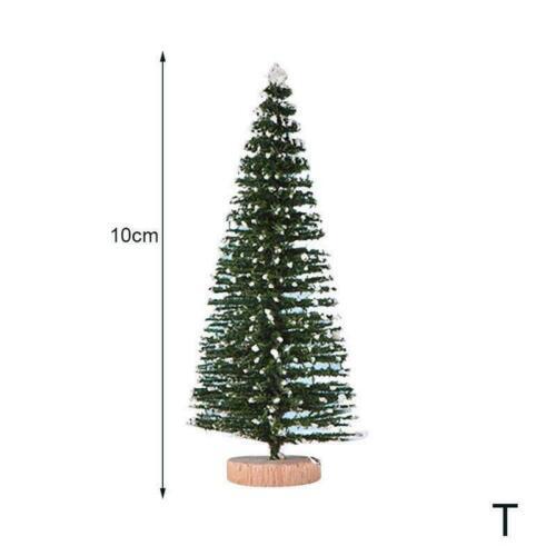 1Pcs Miniatur Schnee Frost Weihnachtsdekor Mini Sisal Ornamente T7K4