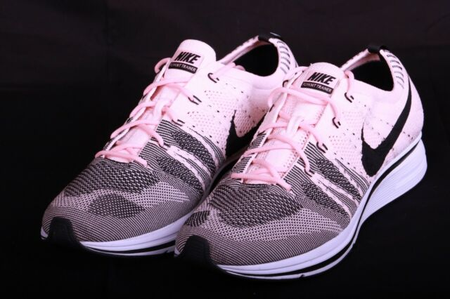 the latest e4a9c 88338 Nike Men s Flyknit Trainer Sunset Tint Black Pink White AH8396 600 Size 13