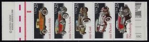 """2381 - 2385a BK164 Complete """"Classic Cars"""" Booklet Mint NH"""
