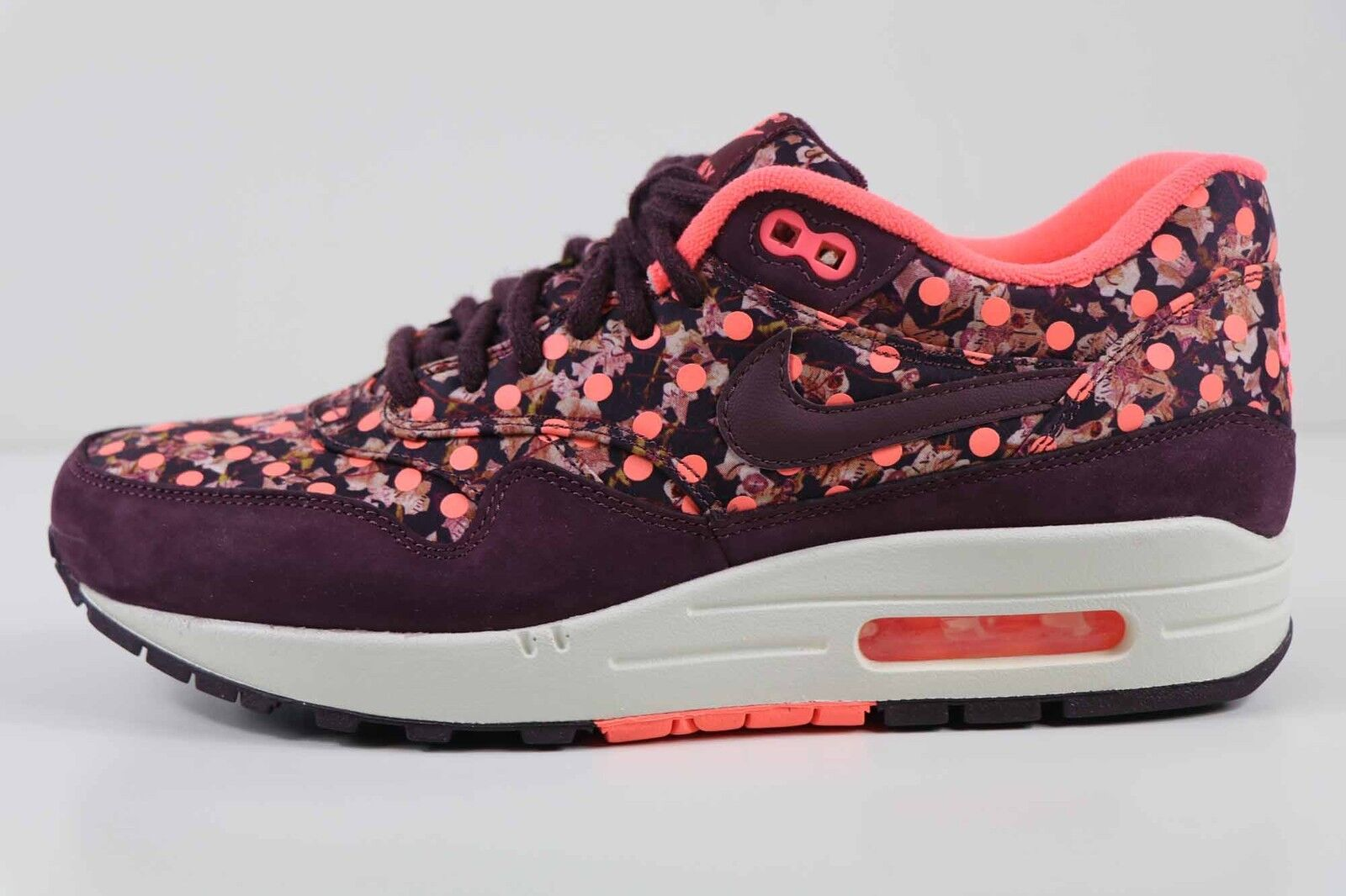 Nike Women's Air Max 1 Lib QS Liberty Burgundy Mango 540855 600 Size 8 New