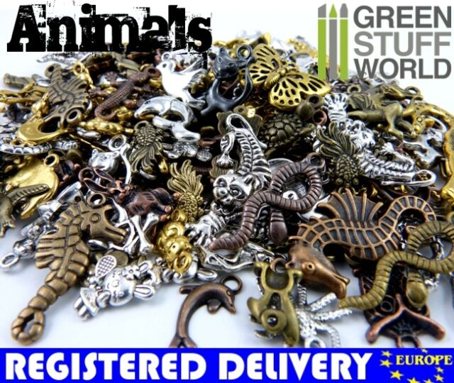 Mixed ANIMALS Set 85 gr - Steampunk Jewellery Beads, Charm and Pendant - Animal