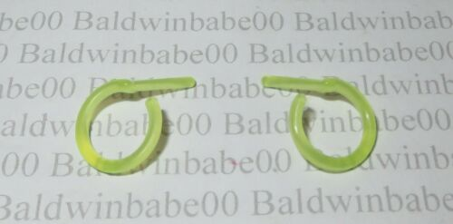 JEWELRY ~ MATTEL BARBIE BMR1959 TRANSLUCENT NEON YELLOW HOOPS EARRINGS ACCESSORY