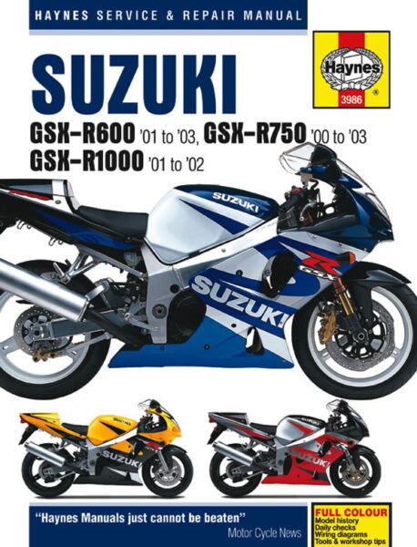 details about 2000 2003 suzuki gsxr600 gsxr750 gsxr1000 gsxr 600 750 1000 haynes repair manual 2004 gsxr 1000 wiring harness 2002 suzuki gsxr 1000 wiring diagram #15