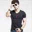 Fashion-Men-039-s-Shirt-Slim-Fit-Short-Sleeve-Muscle-Basic-Tee-Casual-Tops-T-Shirts miniatura 7