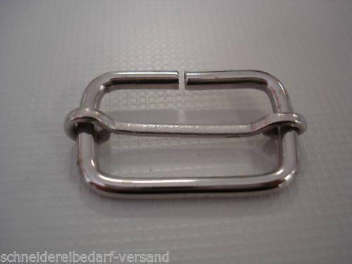 10 Schieber Stahl 20 mm Regulator Gurtschieber Stegschnalle