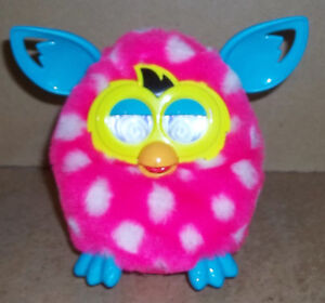 FURBY BOOM PINK WITH WHITE POLKA DOTS WORKS FINE
