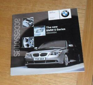 Details about BMW 5 Series E60 Accessories Brochure 2003-2004