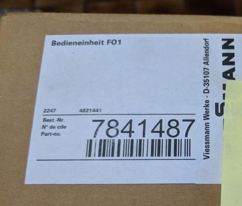 Bedieneinheit FO1,  Viessmann Nr.: 7841487 7841487 7841487 e17090