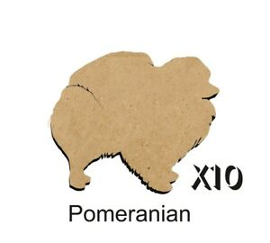 MDF-Shape-Dog-10-POMERANIAN-MDF-cutouts-keyring-5-SIZES-FREE-Hole-DOGW181