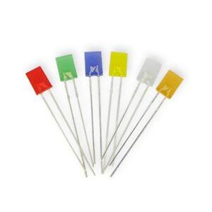 S554-50 Stück LED flach rechteckig 2x5mm orange amber LEDs diffus 2x5x7mm