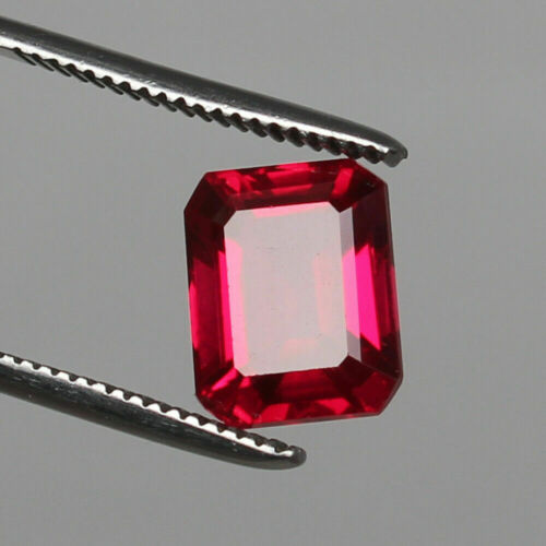 Red Ruby Octagon Cut Estate Loose Gemstone Natural Mozambique 6.10 Ct
