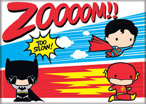 Dc Chibi Justice League Superman Flash Batman Zoom Refrigerator