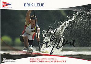 Erik-LEUE-Deutschland-Gold-WM-2009-Kanu-Original-Autogramm