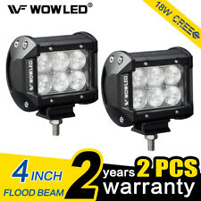 "2x White 7/"" 36W LED Flood Beam Offroad Work Light Bar Car Truck 4x4 Driving Lamp"