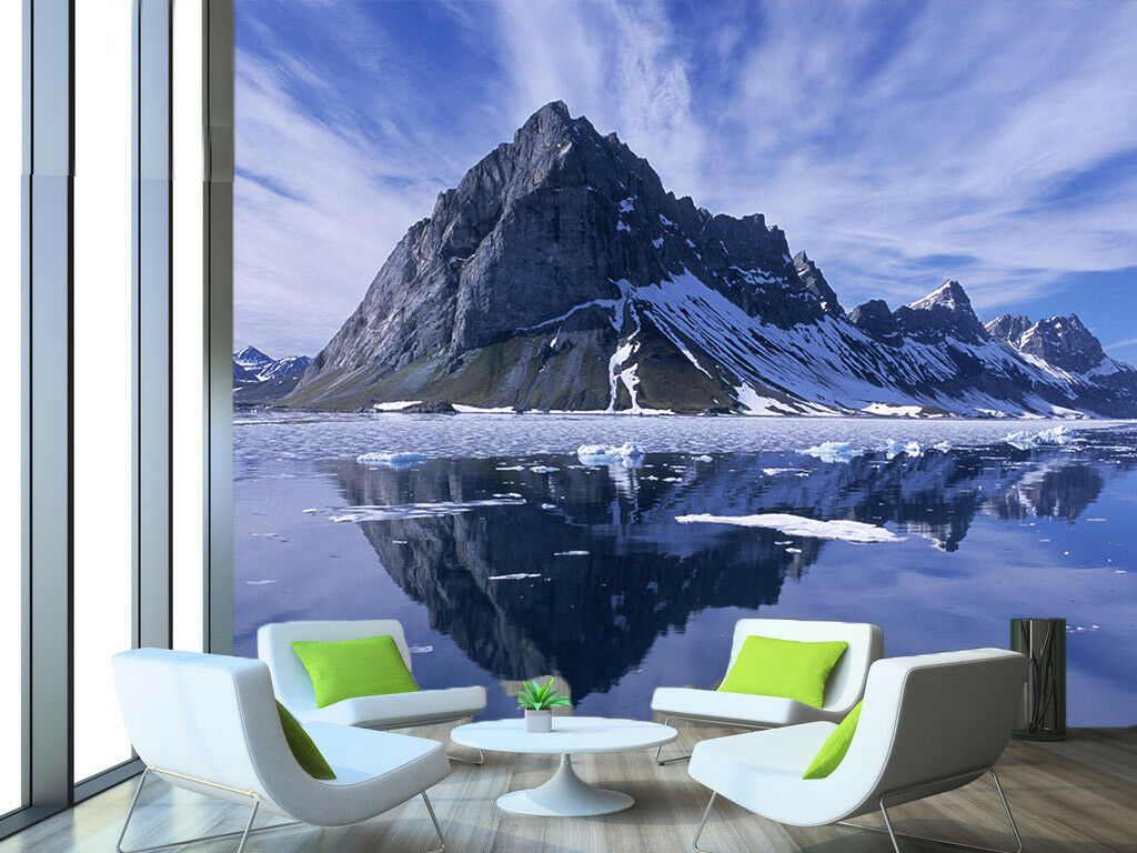 3D Glacier Snow Hill 5 Wall Paper Wall Print Decal Wall Deco Indoor Mural Summer