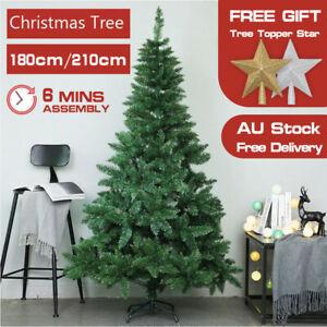 Christmas Tree 1.8/2.1M Xmas Artificial Bushy Green Home Decor